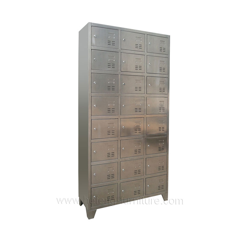 Lockers acero inoxidable 24 casilleros