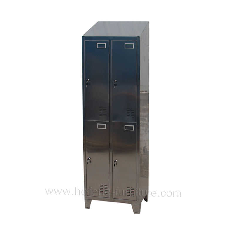 Lockers acero inoxidable 4 casilleros