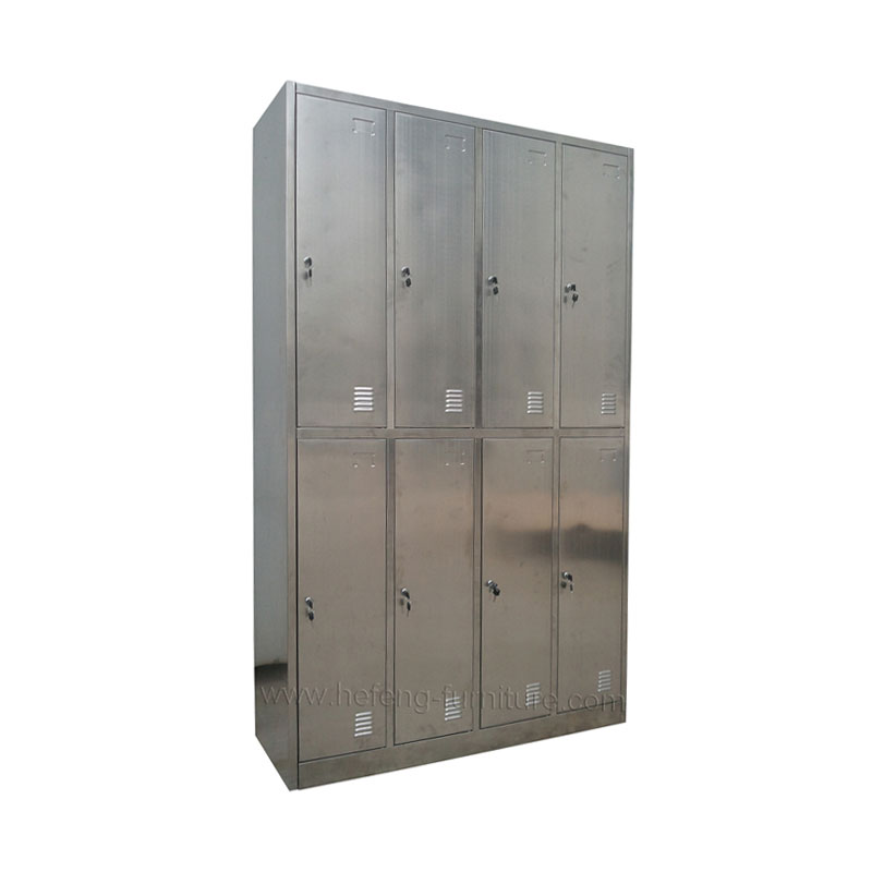 Lockers acero inoxidable 8 casilleros