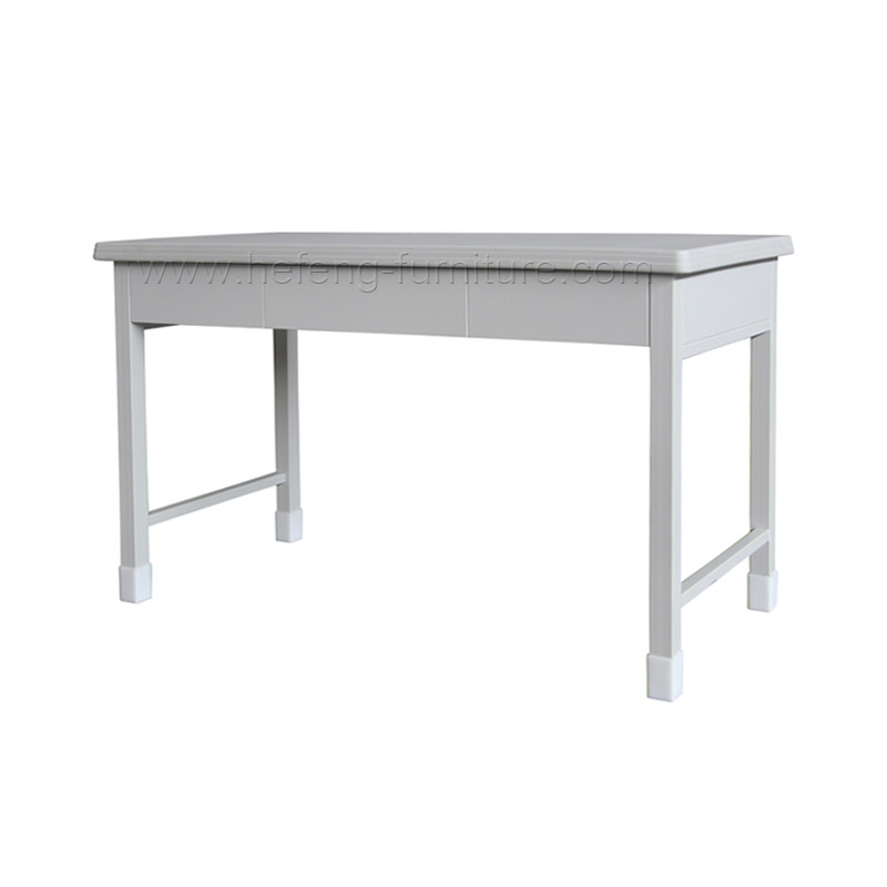 mesa de metal rectangular