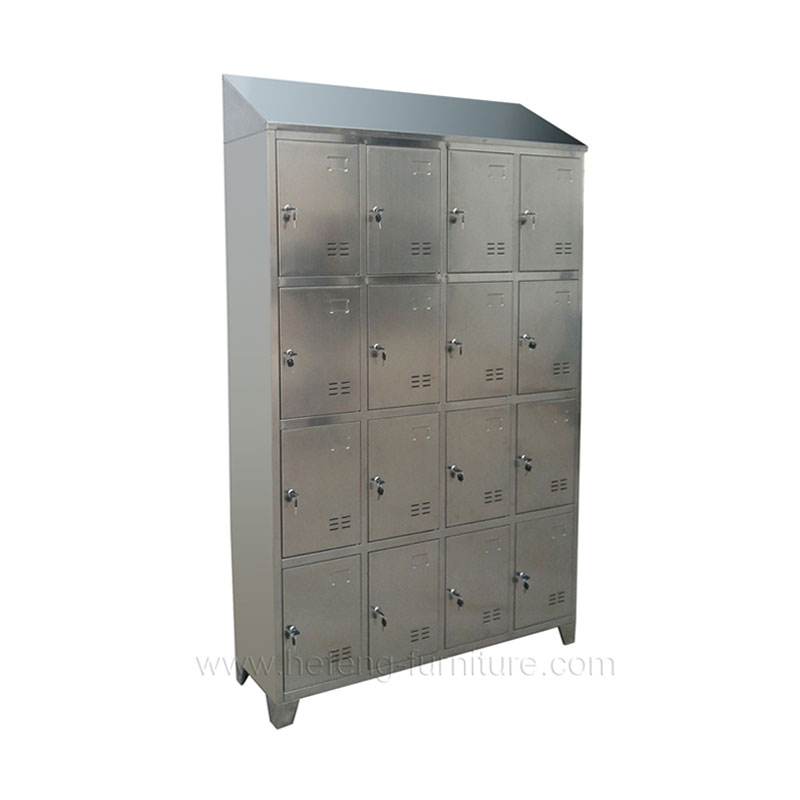 Lockers acero inoxidable 16 casilleros
