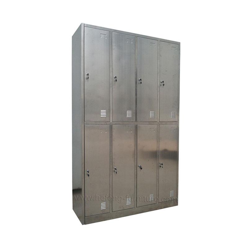 Lockers acero inoxidable 8 casilleros